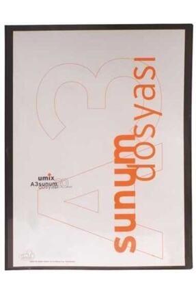 Umix Umıx Sunum Dosyası Standart 20li A3 U120a3 Siyah