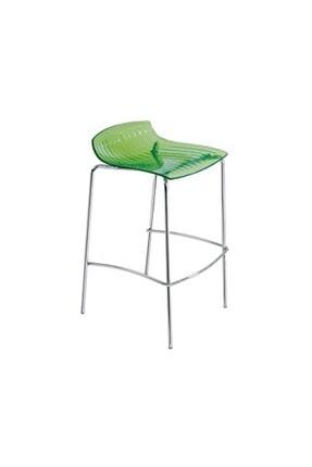Papatya X-treme Bss Bar Sandalyesi Otel Kafe Restoran Mutfak Transparan Yeşil