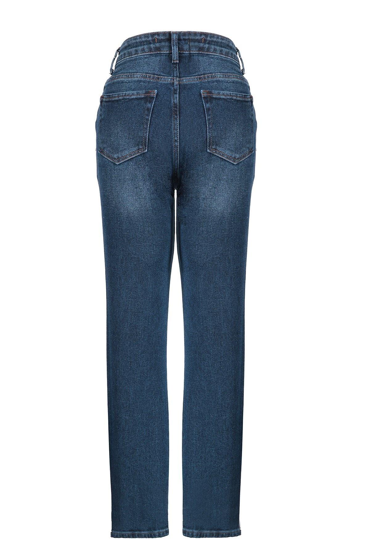 Oblavion Kadın Mavi Mom Jeans 2