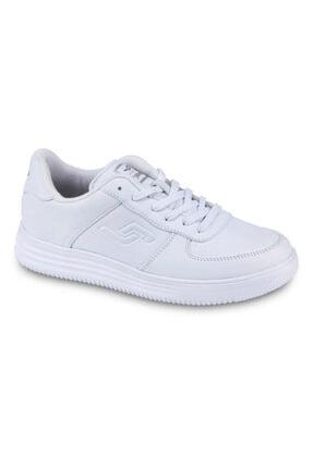 Jump Kadın Beyaz Bağıcıklı Spor Ayakkabı