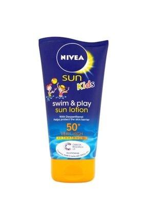 Nivea Sun Kids Çocuk Güneş Koruyucu Nemlendirici Süt Spf50+150 Ml