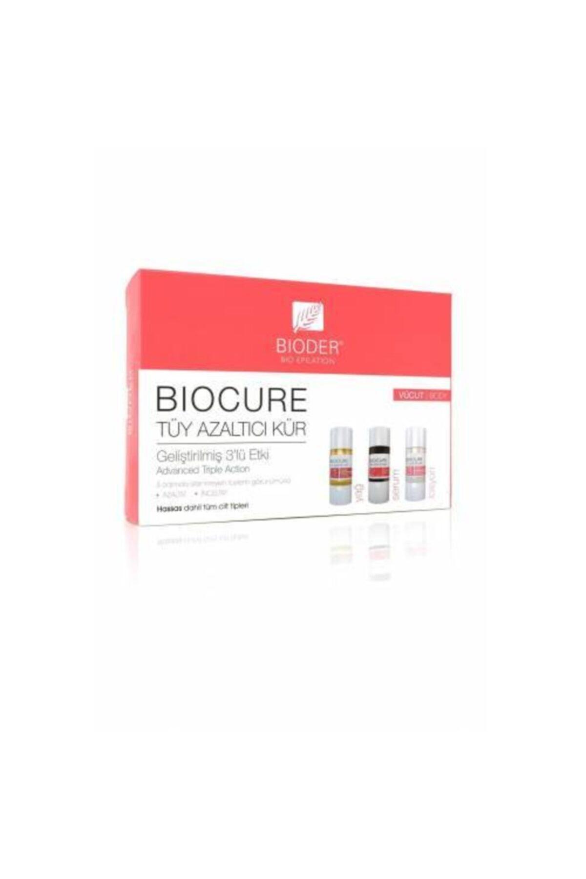 Bioder Biocure Tüy Azaltıcı 3x10 Ml Vücut Kürü 1
