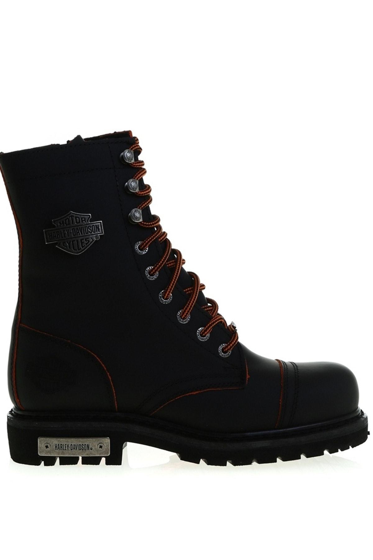 Harley Davidson Siyah Kadın Bot & Bootie 504850854 1