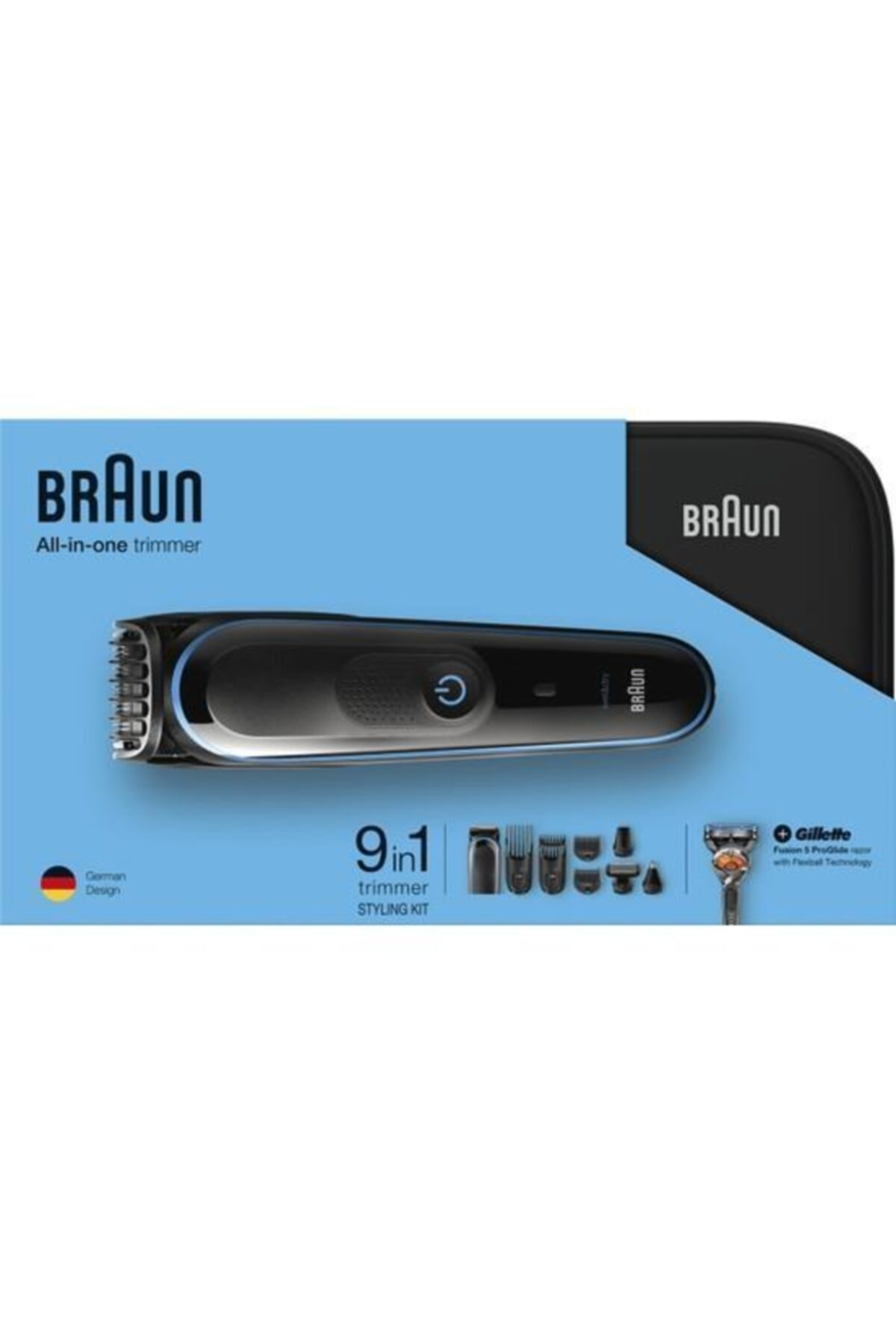 Braun Mgk3980 Çoklu Bakım Kiti Siyah/mavi -saç Ve Sakal Şek.+9 In 1 Özel Tasarım Sert Taşıma Çantalı 2
