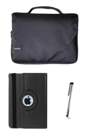 "Moserini Ipad Air2 9.7"" Smart Slim Siyah Tablet Çantası Siyah Dönerli Kılıf Kalem"