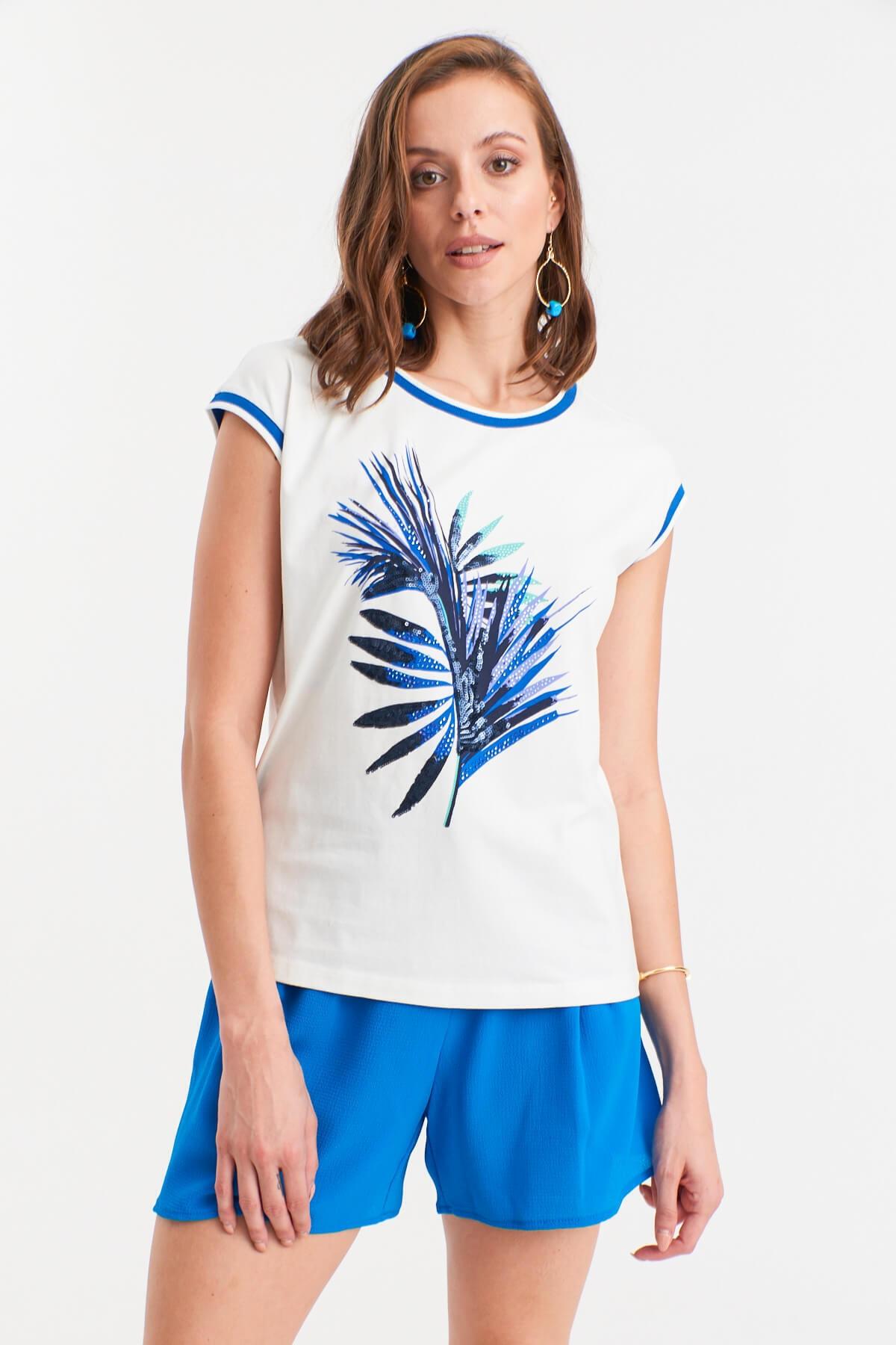 Hanna's by Hanna Darsa Yaprak Desenli T-shirt 2