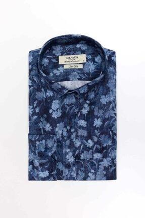 Jakamen Jk32sf01m073 Slim Fit Baskı Desen Gömlek-02