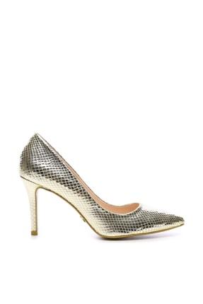 KEMAL TANCA Altın Kadın Klasik Topuklu Ayakkabı