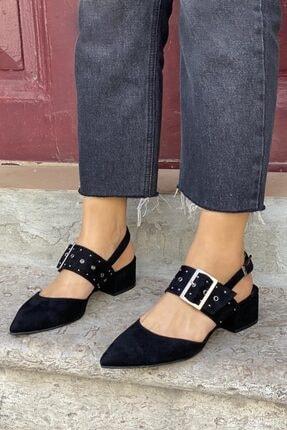 STRASWANS Amelia Süet Topuklu Ayakkabı Siyah