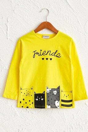 LC Waikiki Kız Çocuk Canlı Sarı Fq6 Tişört
