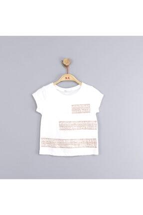 NK Kız Çocuk Etnik Desenli Simli Bluz