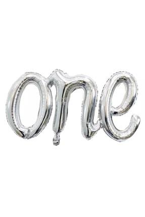 Kullan At Market 1 Yaş Partim One Yazı Şekilli Gümüş Folyo Balon 70cm 1 Adet