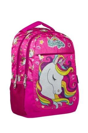 ÜMİT ÇANTA Cennec Kız Çocuk Simli Unicorn Okul Sırt Çantası - Ilkokul Ve Ortaokul Çantası