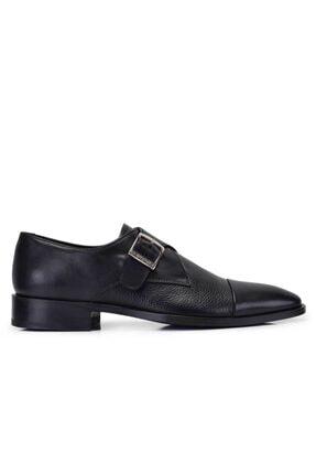 Nevzat Onay Hakiki Deri Siyah Klasik Loafer Kösele Erkek Ayakkabı -11557-
