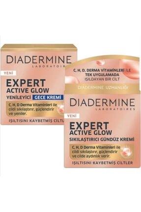 Diadermine Expert Active Glow Sıkılaştırıcı Gündüz Kremi + Gece Kremi