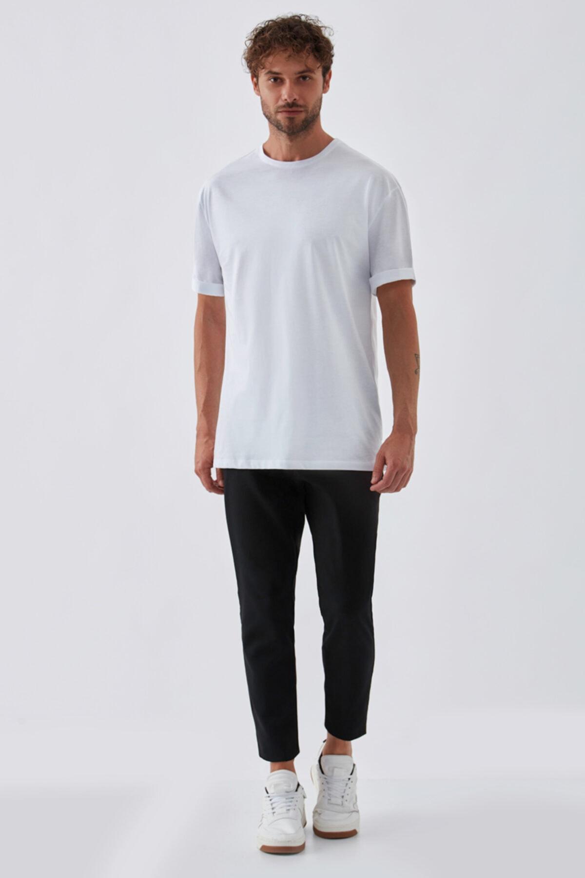 Dear Deer Erkek Beyaz Basic T-shirt 1