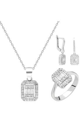 Milades Gümüş Baget Üçlü Set