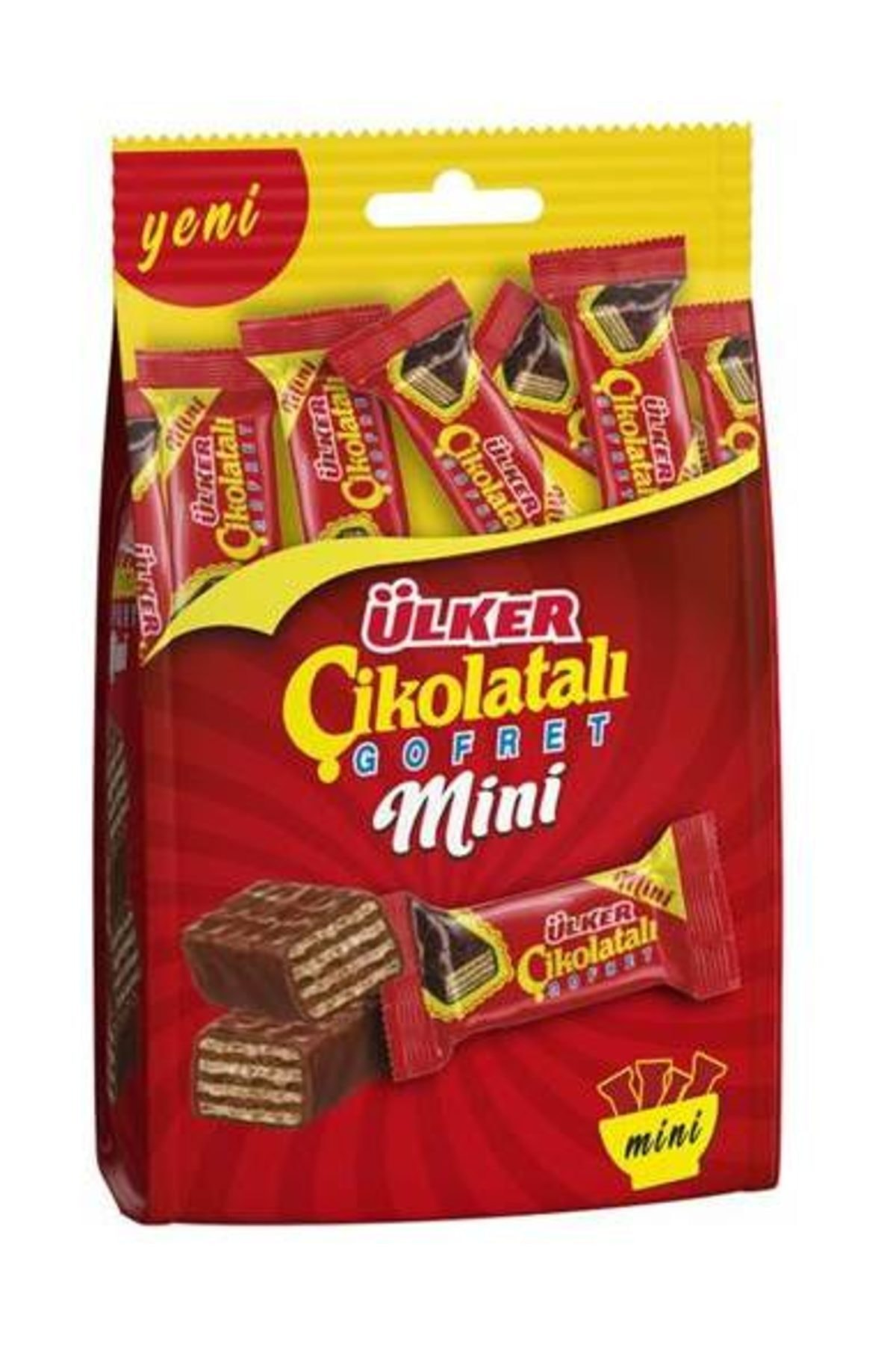 Ülker Mini Çikolatalı Gofret Çoklu Paket Çikolata 82 gr 1