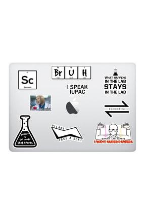 Marcador Chemıst Kimya Temalı Laptop Notebook Tablet Sticker Seti (9 Adet)