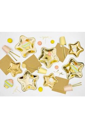 Kullan At Market Gold Yıldız Parti Seti 6 Kişilik