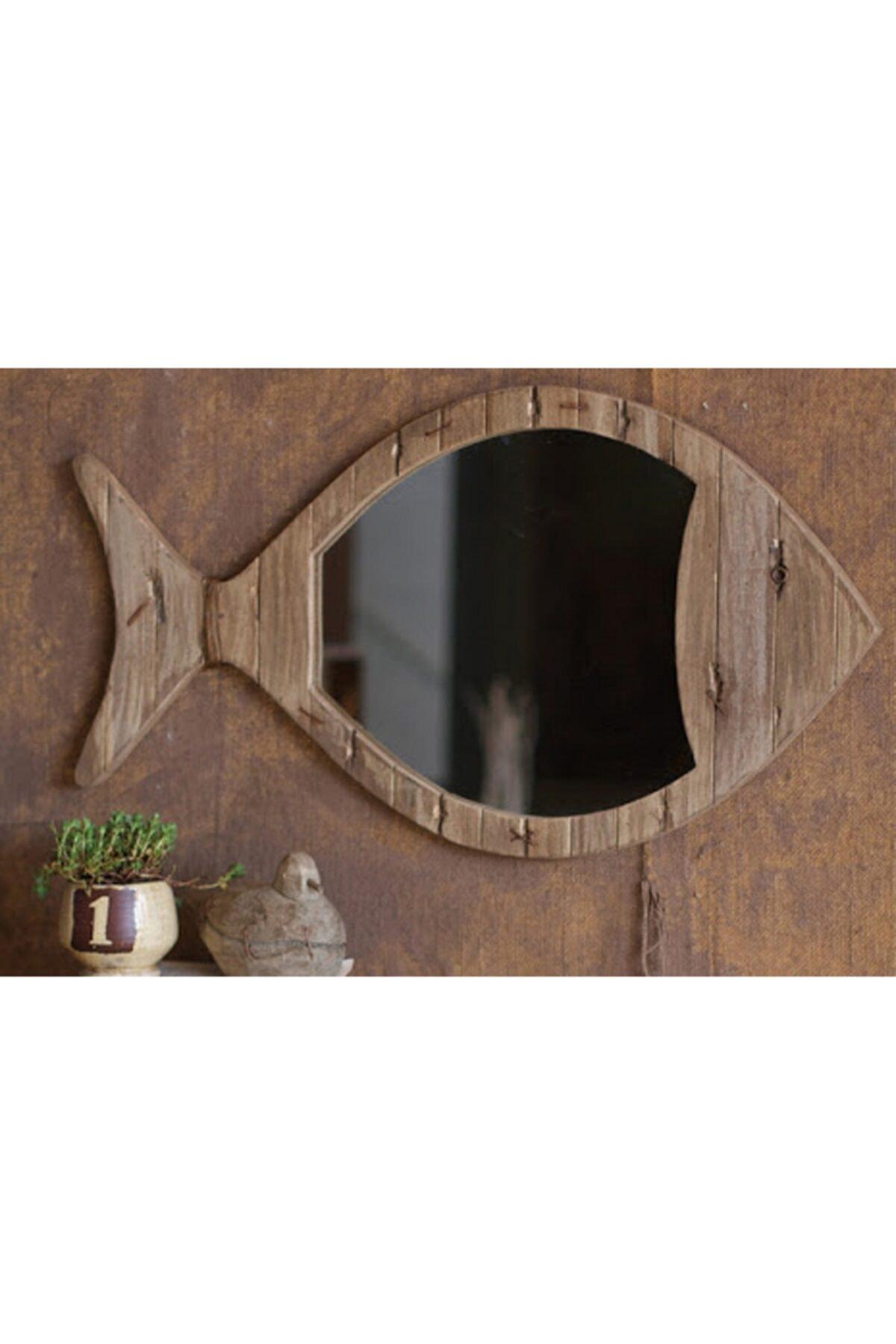 Limbo Home Ahsap Balık Ayna Küçük 1