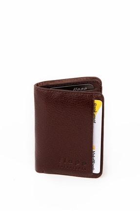 Flapp Unisex Kahverengi Hakiki Deri Mini Kartlık