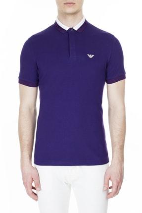 Emporio Armani Erkek Mor Polo T Shirt Erkek Polo 3h1f84 1j46z 0832