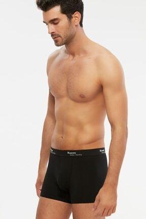 Kom Erkek Penye Modal Boxer 6 Lı Siyah S-2xl