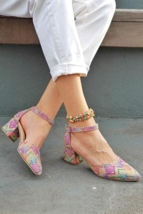 Çatalcalı Metin Kadın Haki Hasır Tek Bant Kadın Ayakkabısı