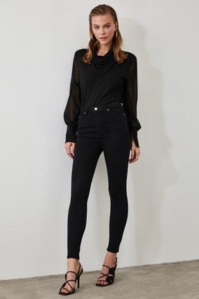 TRENDYOLMİLLA Siyah Yüksek Bel Skinny Jeans TWOSS20JE0098