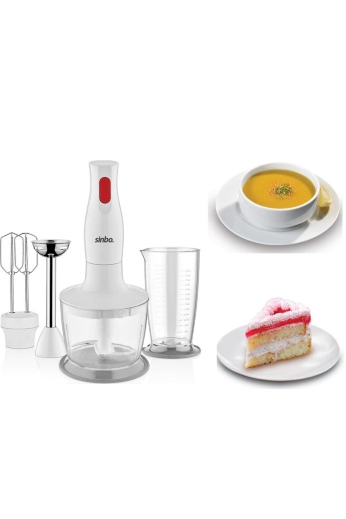 Sinbo Orıjınal Ürün 3147 Blender Set Beyaz-paslanmaz Çelik Bıçaklı 1