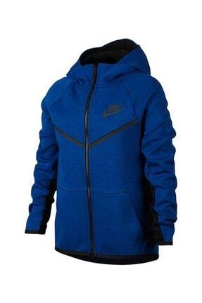 Nike B Nsw Tch Flc Wr Hoodıe Fz Erkek Çocuk Lacivert  Ceket 856191-431