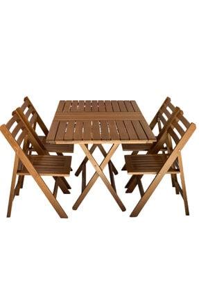 City Atina Katlanır Masa Sandalye Oturma Grubu 80x120 cm