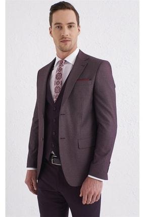 Efor Tk 803 Slim Fit Bordo Klasik Takım Elbise