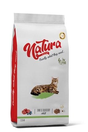 natura Düşük Tahıllı Yetişkin Kedi Maması Kuzu & Yaban Mersini 2,25 Kg