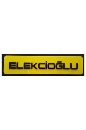 BoostZone Sarı Elekcioğlu Dekor Plaka