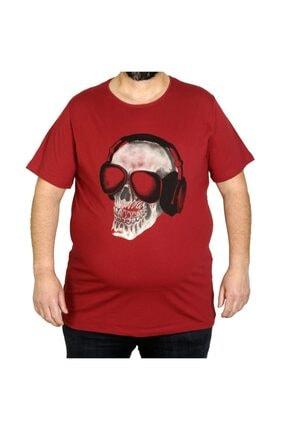ModeXL Büyük Beden Tshirt Bisiklet Yaka Skull 20120