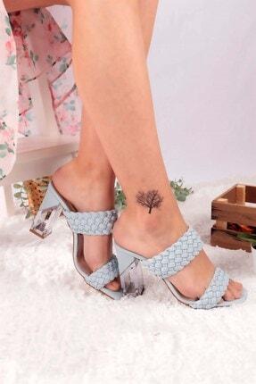 Buffalo Kadın Mavi Topuklu Ayakkabı