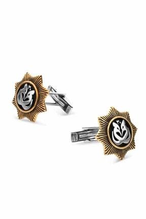 Anı Yüzük 925 Ayar Gümüş Hüdhüd Kuşu Kol Düğmesi