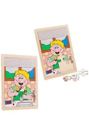Wooden Toys Ahşap Diş Fırçalama Yapboz Puzzle