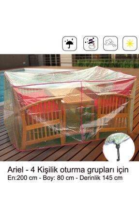 Sole Bahçe Oturma Grubu Koruma Örtüsü - Ariel:200x145x80cm