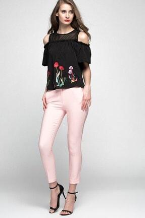 Womenice Kadın Pudra Bilekte Klasik Pantolon