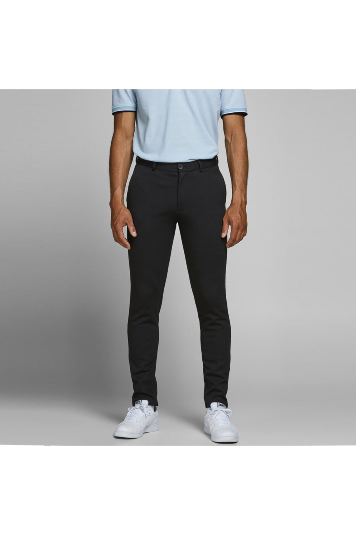 Jack & Jones Erkek Siyah Dar Paça Pantolon 12173623-b 1