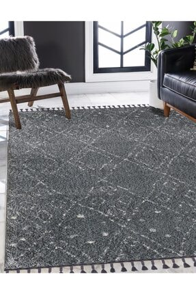 Angel Carpet Chicago Serisi - Diamond - D.grey Grey