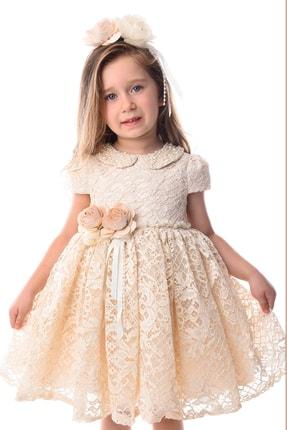 Tülipano Bianco Kız Çocuk Fransız Dantelli Elbise