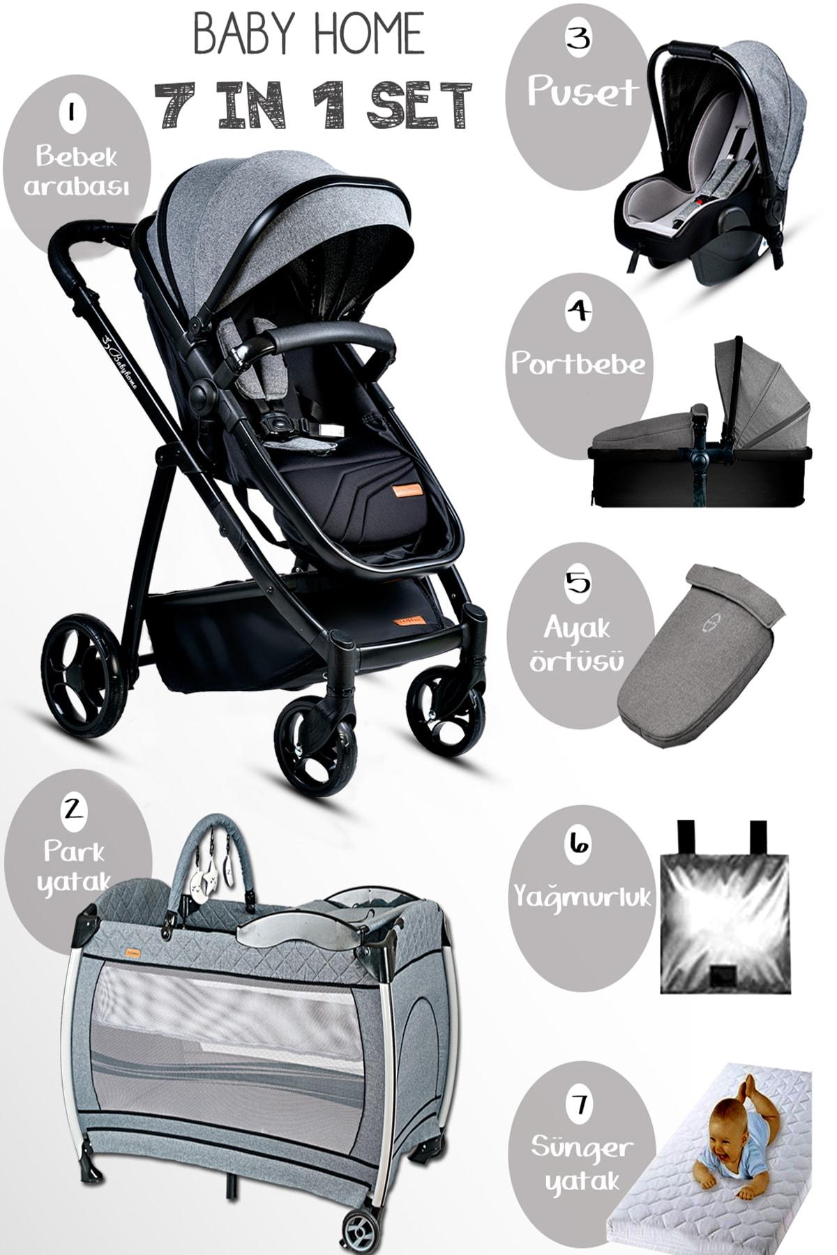 Baby Home 955 Gold Travel Sistem Bebek Arabası 600 Bebek Oyun Parkı Beşik Yatak Full Takım