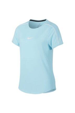 Nike Kız Çocuk Mavi Spor T-Shirt Ar2348-449