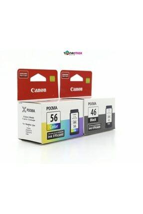 Canon Pg-46 /cl-56 Pixma E404/e414/e464/e484 Siyah Ve Renkli Kartuş