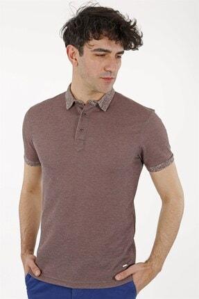 Jakamen Kahve Slim Fit T-shirt Polo Yaka