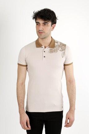 Jakamen Bej Slim Fit T-shirt Polo Yaka